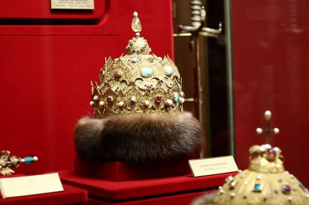 Čiapka Kazanská. Vyrobená okolo roku 1553 pre Ivana Hrozného na počesť dobytia Kazane.