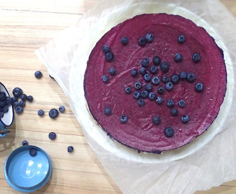 Čučoriedkový cheesecake letné zákusky