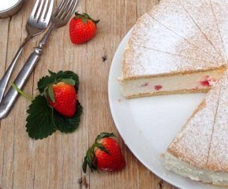 tvarohový koláč letné zákusky
