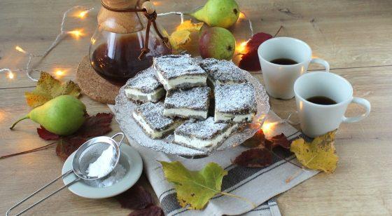 hruškový koláč s makom